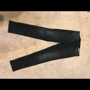 rag & bone Cropped Distressed Jeans